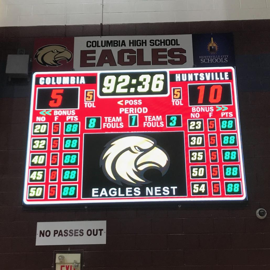 Eagles LED Basketball Scoreboard