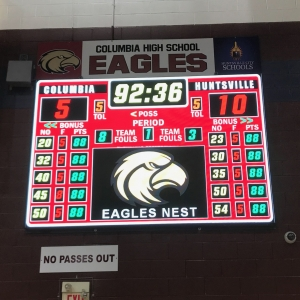 Eagles LED Basketball Scoreboard